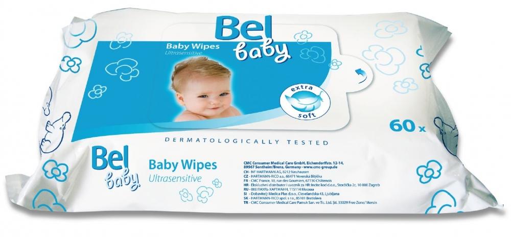 Bel Baby Wipes - влажные салфетки для чувствительной кожи малыша, 60 шт.