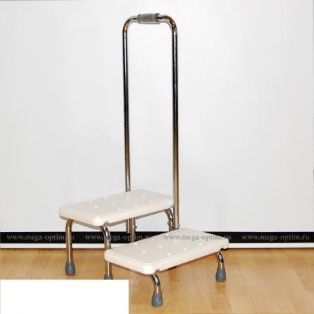 Поручень с 2-мя ступенями для ванной комнаты (Мега-Оптим)