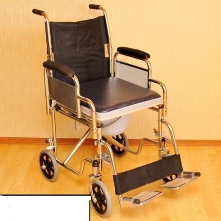 Кресло-каталка с санитарным оснащением (Мега-Оптим)