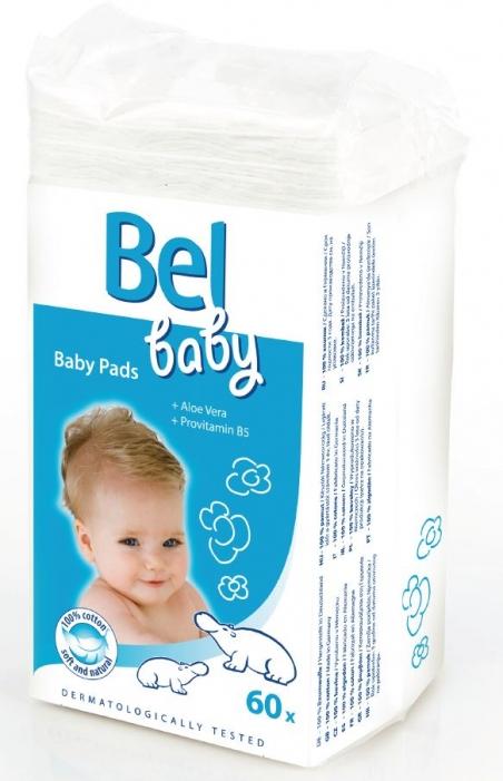 Bel Baby Pads - детcкие ватные подушечки с алоэ вера и провитамином B5, 60 шт.