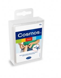 Cosmos family  набор пластырей для всей семьи 10 шт. с ножницами