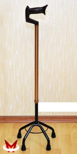 Трость 4-х опорная со средним основанием (Мега-Оптим)