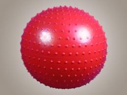 Гимнастический мяч игольчатый с насосом, синий, размер 75 см. (Атлетика)