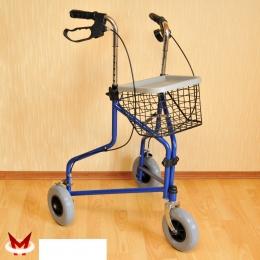 Прогулочные опоры - Роллейтор  на 3-х колесах (Мега-Оптим) корзина+сумка