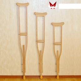 Костыли подмышечные деревянные с мягкими накладками (Мега-Оптим)
