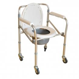 Кресло-туалет на 4-х колёсах (Мега-Оптим)